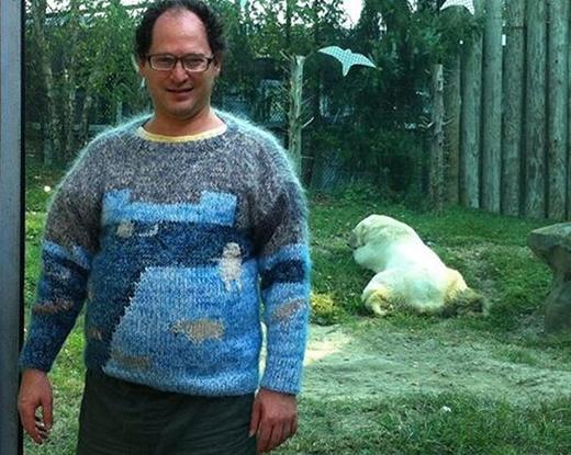 ...đến khuôn viên gấu trắngtrong công viên động vật.