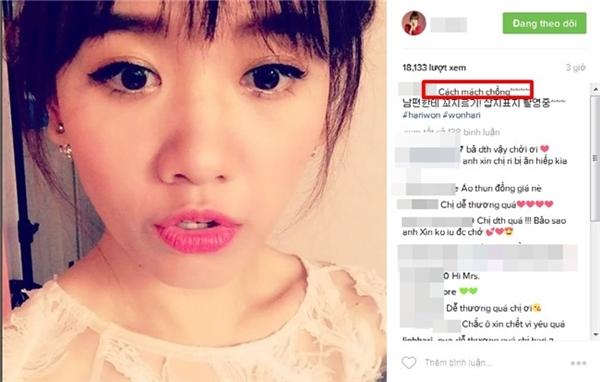 Cộng đồng mạng vô cùng phấn khích trước đoạn clip chia sẻ của Hari Won. - Tin sao Viet - Tin tuc sao Viet - Scandal sao Viet - Tin tuc cua Sao - Tin cua Sao