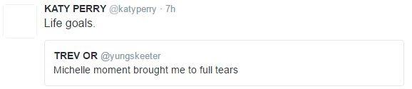 Katy Perry bày tỏ sự ngưỡng mộ với tình yêu son sắt của ông bà Obama.