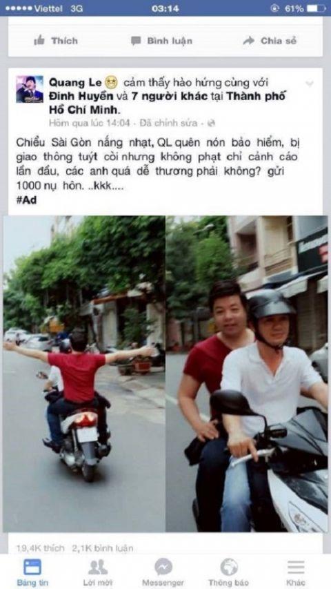 Nam ca sĩ hồn nhiên vi phạm luật giao thông... - Tin sao Viet - Tin tuc sao Viet - Scandal sao Viet - Tin tuc cua Sao - Tin cua Sao