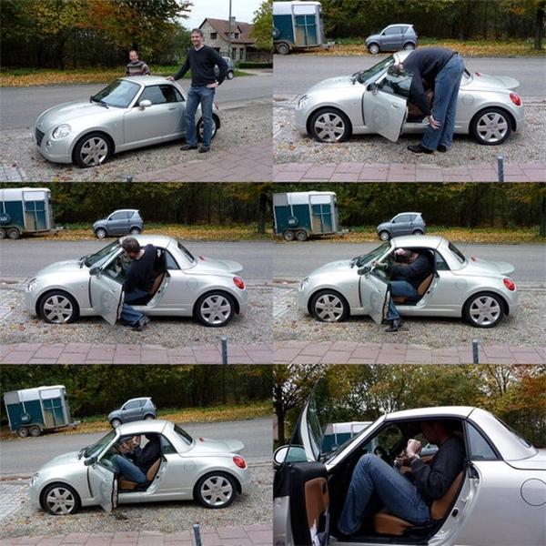 Khi bạn quá cao mà chiếc xe quá lùn thì phải làm sao?