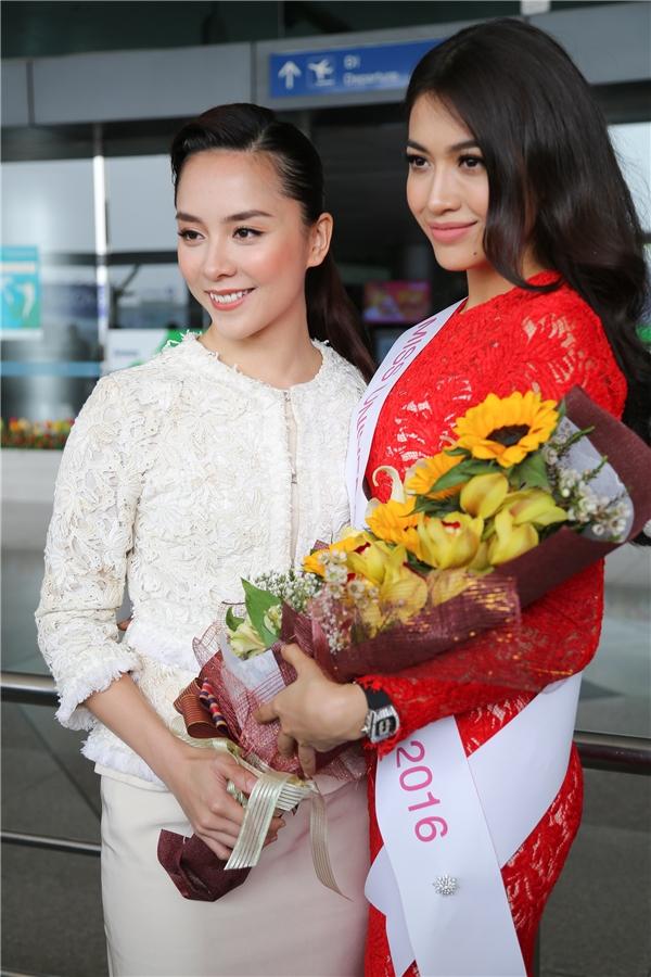 Phạm Hương tiễn Lệ Hằng lên đường thi đấu tại Hoa hậu Hoàn vũ