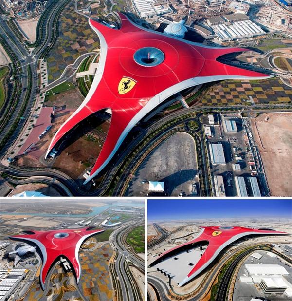 Công viên giải trí trong nhà lớn nhất thế giới Ferrari World, Abu Dhabi. (Ảnh: internet)