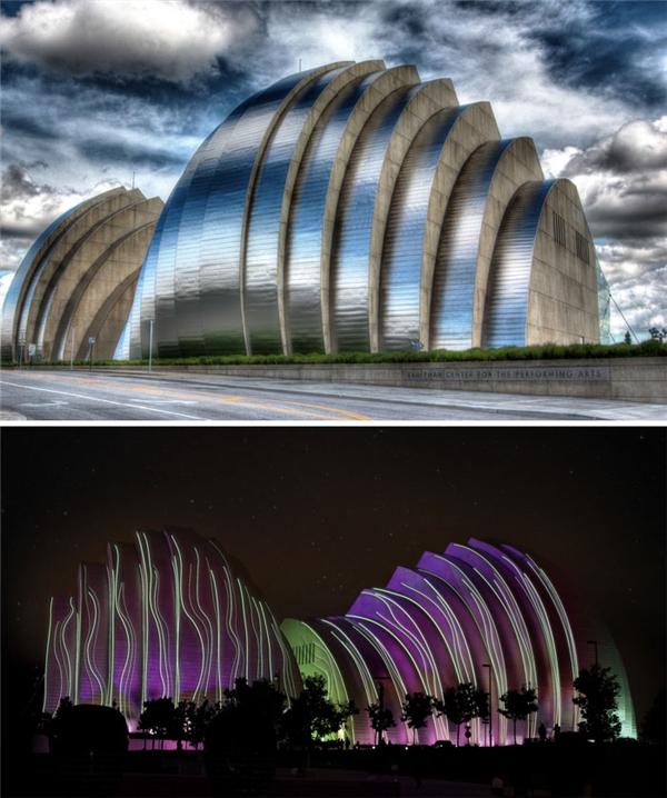 Trung tâm nghệ thuật biểu diễn Kauffman, thành phố Kansas, Mỹ. (Ảnh: internet)