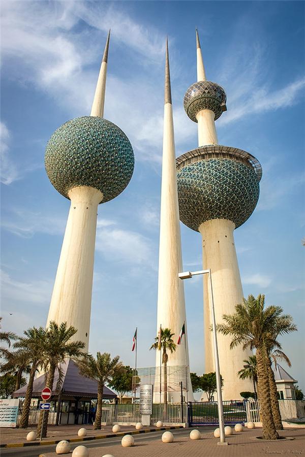 Tháp Kuwait, thành phố cảng Kuwait, Liên bangNam Tư. (Ảnh: internet)