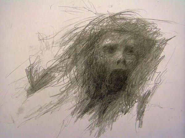 Bức vẽ của một bệnh nhân tâm thần trước khi tự sát.