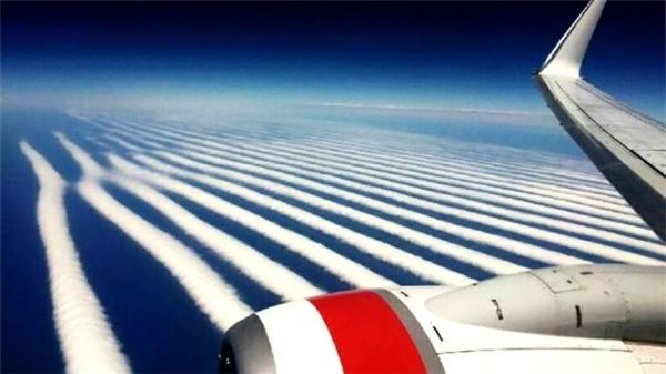 """Hiện tượng này theo chuyên gia khí tượng cho biết đó là """"Mây sóng"""". (Ảnh: internet)"""