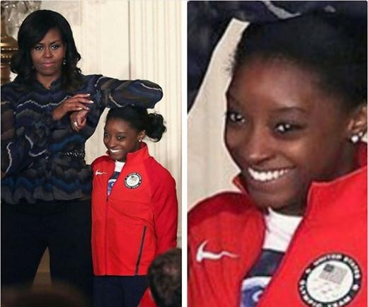 Không phải phu nhân Michelle Obama thì chắc không xong với con nhỏ này rồi...