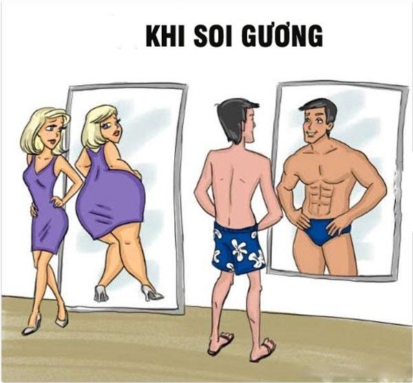 Và đây là điều họ muốn nhìn thấy khi soi mình trong gương. (Ảnh: Internet)