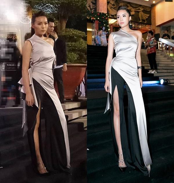 Dù hình ảnh có sự tươi mới, trẻ trung nhưng Hoa hậu Việt Nam 2014 vẫn đón nhận một vài ý kiến trái chiều. Tuy nhiên, điều khiến khán giả chú ý nhất chính là việc đôi chân của cô bị kéo dãn quá đà bởi xuất hiện một số hình ảnh mộc chụp Kỳ Duyên trên thảm đỏ. Tuy nhiên, bức ảnh được ê-kíp của Kỳ Duyên đăng tải cũng một phần do góc chụp nghiêng từ bên dưới khiến đôi chân cô trông ảo hơn.