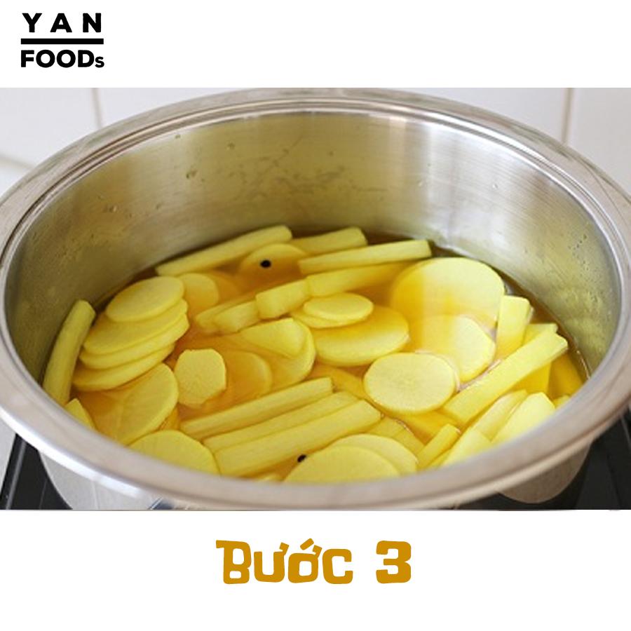 Học 4 bước làm củ cải muối vàng cực ngon từ người Hàn