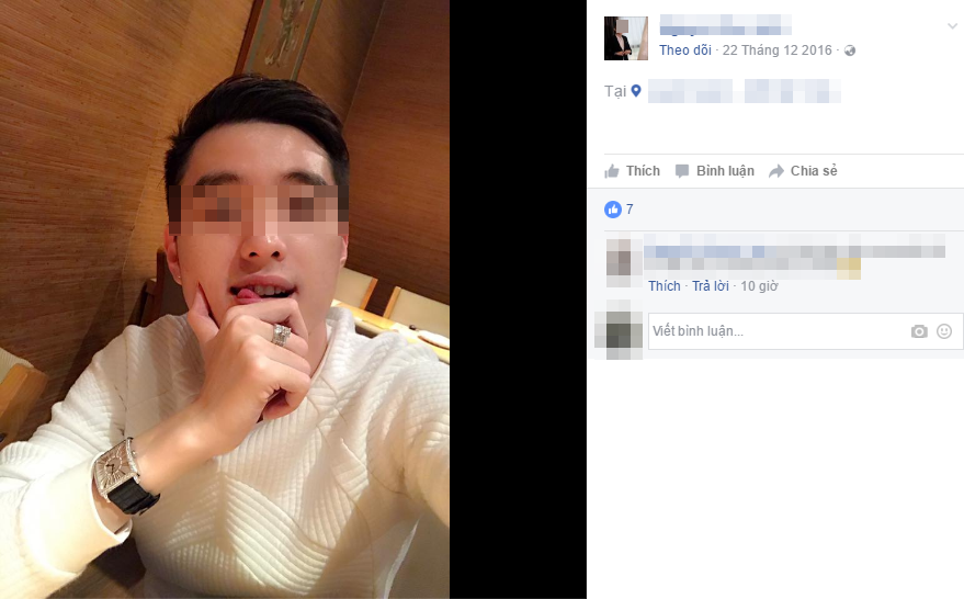 """Cũng bức ảnh ấy trên FB """"chính chủ"""".(Ảnh: Chụp màn hình)"""