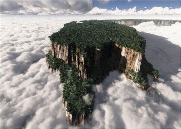 Núi Roraima là ngọn núi đỉnh bằng cao và nổi tiếng nhất xứ Venezuela, cũng được xem là biên giới giữa ba quốc gia Venezuela, Brazil và Guyana. Ngọn núi cũng là nơi chứa và tạo ra nhiều địa chất lâu đời nhất thế giới.