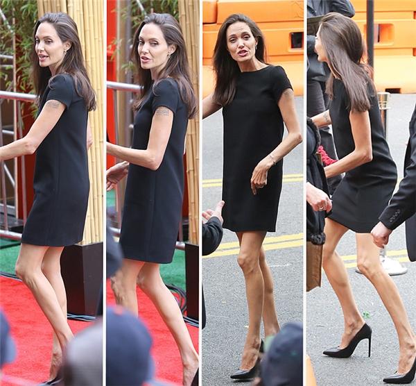 Angelina Jolie xuất hiện gầy gò chưa từng thấy cùng con trai Pax Thiên
