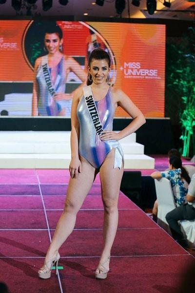Hoa hậu Thụy Sĩ không có chiều cao nổi bật, tỉ lệ cơ thể cũng không cân đối. Cơ thể của cô gái này tạo cảm giác không săn chắc.