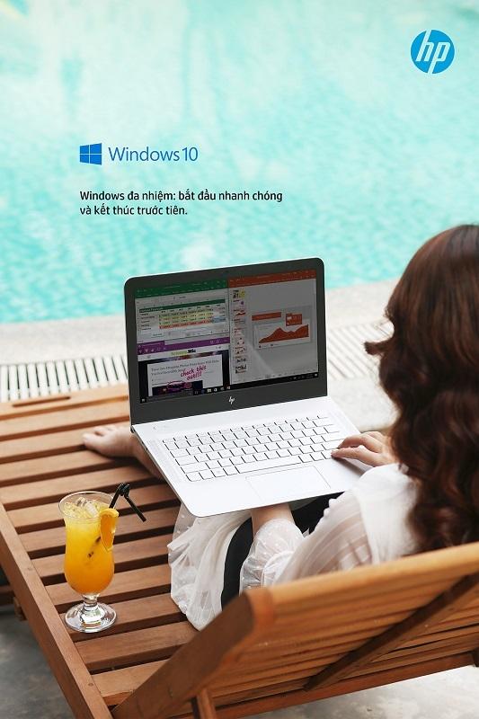 Để không ảnh hưởng đến chuyến du lịch, bạn thường dành rất ít thời gian công nghệ. Chỉ với 30 phút cùng HP ENVY Laptop với Windows 10 bản quyền, bạn có thể dễ dàng giải quyết công việc hoặc kết nối bạn bè từ xa.