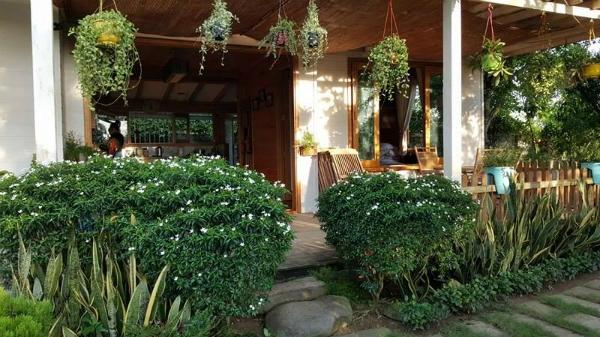 Nằm trong làng biệt thự vườn thuộc huyện Bình Chánh, TP.HCM, ngôi nhà của vợ chồng ca sĩ Kiwi Ngô Mai Trang được làm hoàn toàn bằng gỗ, phía trước là hồ bơi nhỏ và khu vườn rộng tới 500-700m2 với đủ loại hoa, cây ăn trái và rau xanh. - Tin sao Viet - Tin tuc sao Viet - Scandal sao Viet - Tin tuc cua Sao - Tin cua Sao