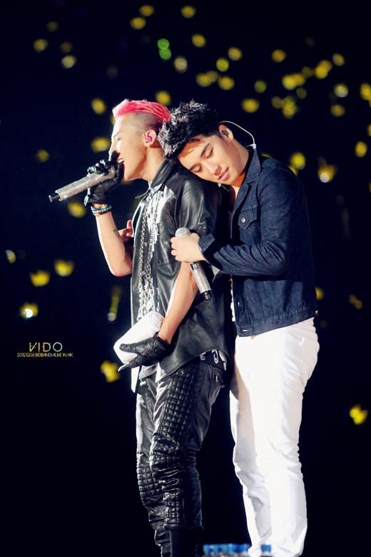Cặp đôi nhóm trưởng và em út của Big Bang được fans nhiệt tình ủng hộ.