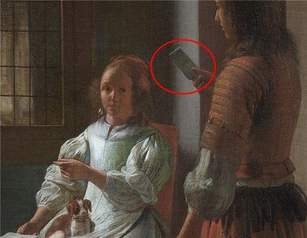 Cận cảnh bức tranh của họa sĩPieter de Hooch. (Ảnh: internet)
