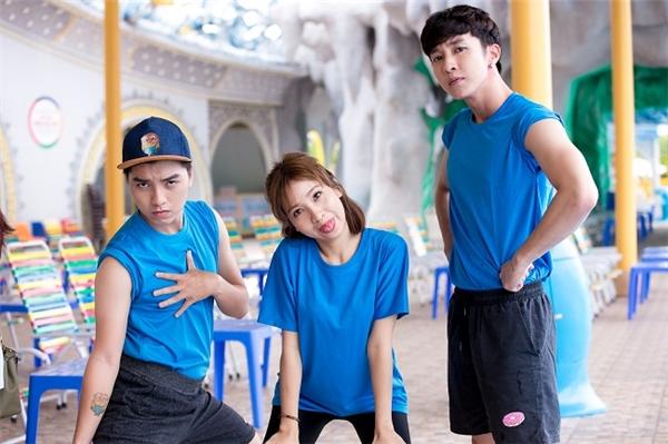 Đội Xanh với sự góp mặt của Ngọc Trai, Kim Nhã và Key. - Tin sao Viet - Tin tuc sao Viet - Scandal sao Viet - Tin tuc cua Sao - Tin cua Sao