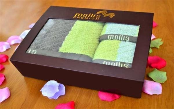 Hộp khăn quà tặng sang trọng của Mollis.