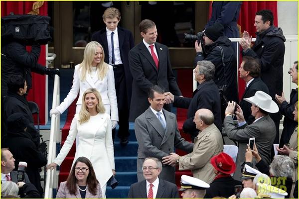 Những người con của ông Trump xuất hiện trong ngày nhậm chức.(Ảnh: Internet)