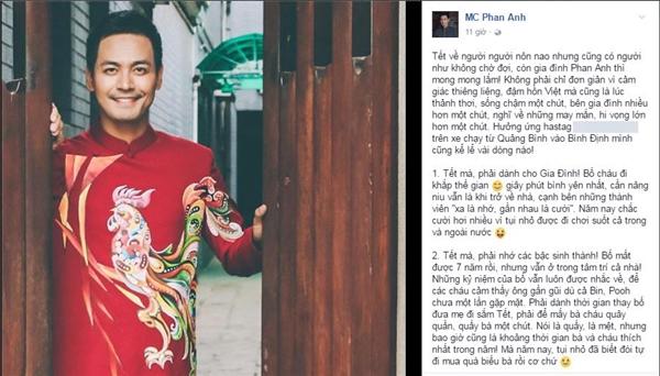 Dù vừa chia sẻnhững kỉ niệm cùng sự khắc khoải khi nhắc về ngày Tết cách đây chưa lâu, tuy nhiên MC Phan Anh đãgác lại cảm xúc ấy để tiến về miền Trung, mang niềm vuiđến cho người dân vùng lũ. - Tin sao Viet - Tin tuc sao Viet - Scandal sao Viet - Tin tuc cua Sao - Tin cua Sao