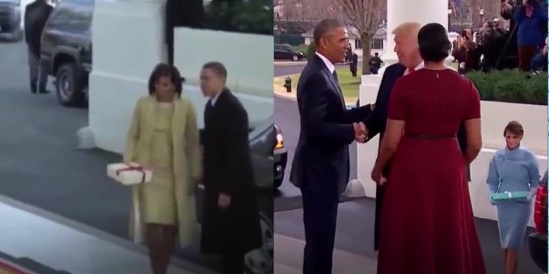 Cách Tổng thống Obama bước ra khỏi xe khác so với ông Donald Trump.
