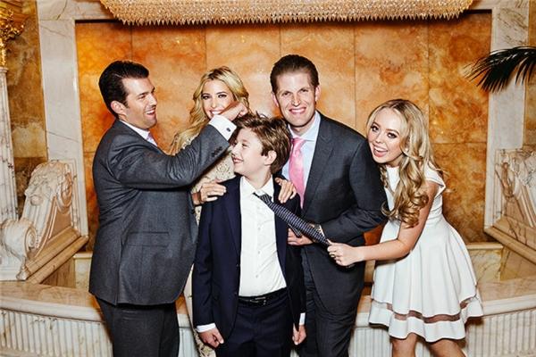 Mọi thành viên trong gia đình Trump đều sẽ được vệ sĩ bảo vệ.