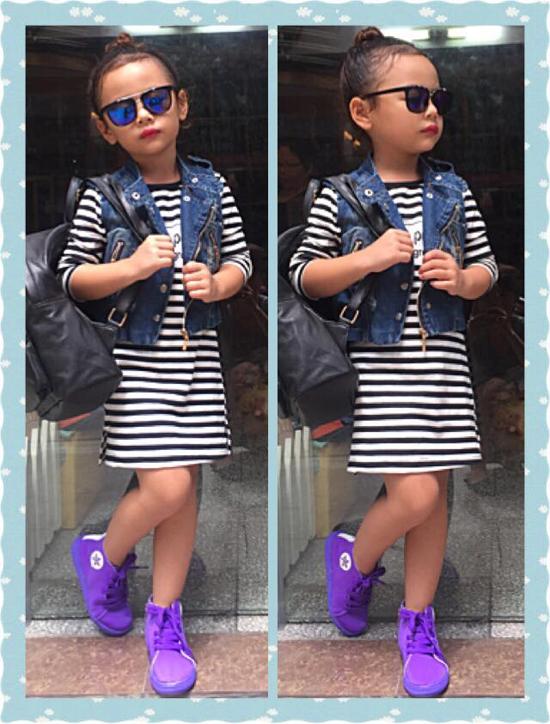 Nam Phươngtừ nhỏ đã làm mẫu ảnh nên cô bé đã quen với ống kính lẫn ánh đèn sân khấu.(Ảnh: Internet)
