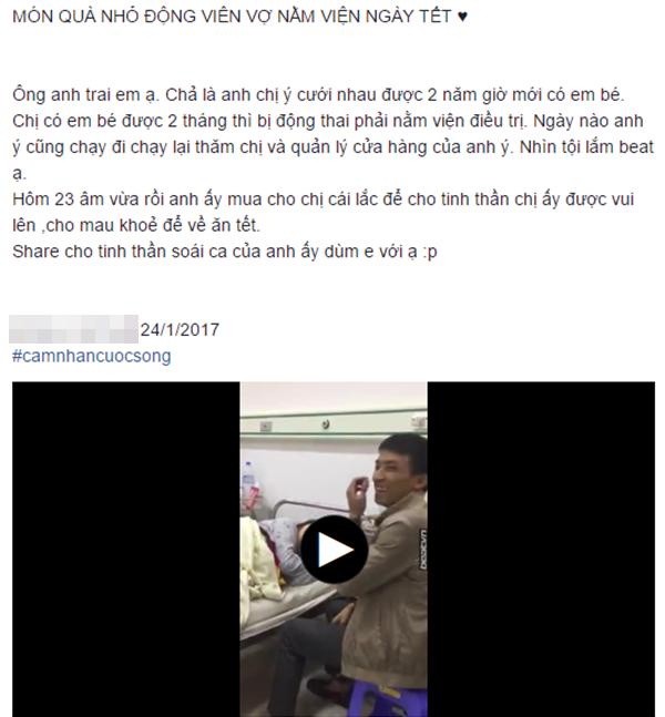 Bài đăng câu chuyện của cặp vợ chồng tại bệnh viện đang được nhiều người quan tâm, chú ý. (Ảnh: Chụp màn hình)