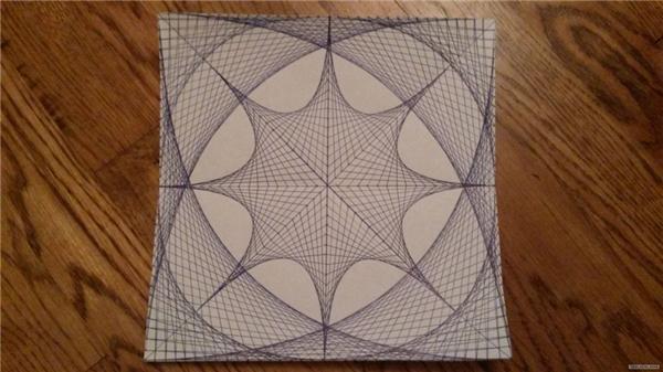 Bạn sẽ không tin đâu nhưng trên thực tế, bức tranh này được tạo nên hoàn toàn từ những đường thẳng đấy.