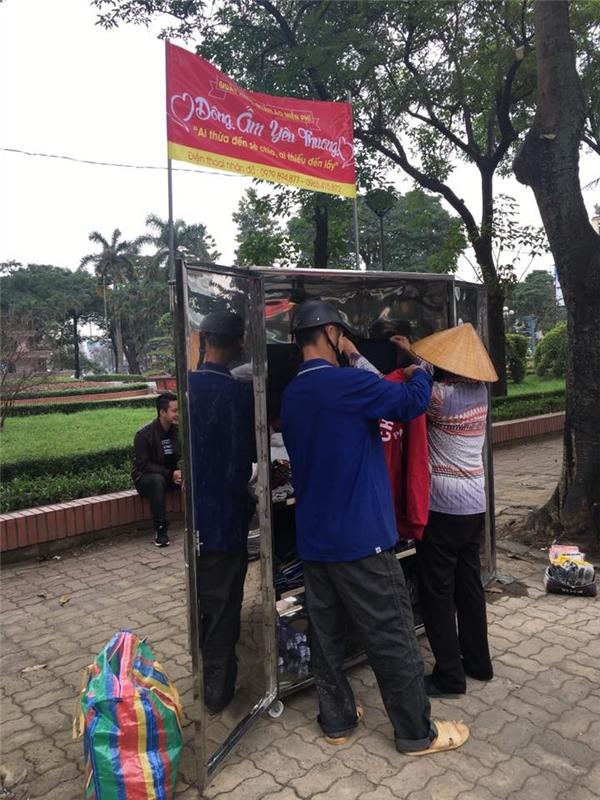 Nhiều điểm tại Nghệ An cũng mở tủ đồ miễn phí cho người nghèo.(Ảnh: Internet)