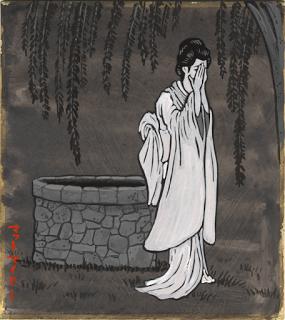 Có phiên bản cho rằngOkiku tự kết liễu đời mình bằng cách lao mình xuống giếng.(Ảnh: Internet)