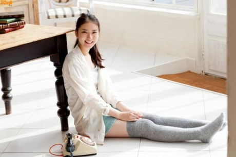 Cô nàng được bình chọn là 1 trong 2 thiếu nữ sở hữu đôi chân đẹp nhất Nhật Bản.