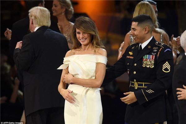Tâm trạng của phu nhân Trump có vẻ đã khá hơn nhiều.