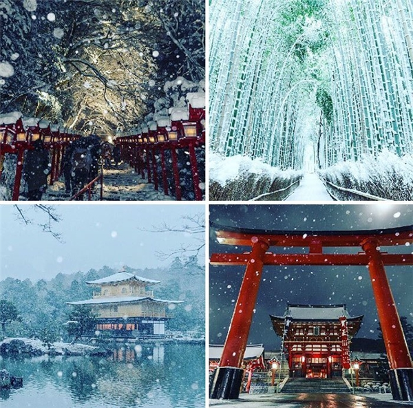 Ngắm Kyoto đẹp đắm đuối ma mị giữa bốn bề tuyết trắng bao phủ