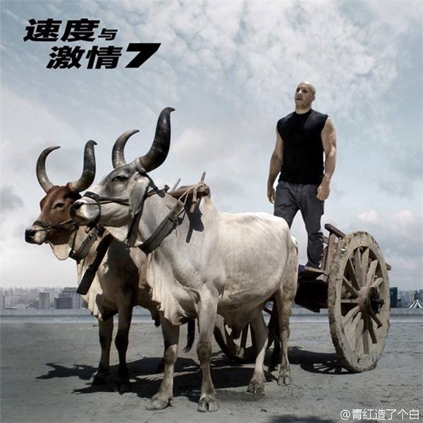 """Trưởng nhóm Vin Diesel cực ngầu bên """"siêu xe""""."""