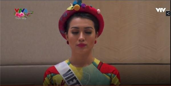 Lệ Hằng không được gọi tên trong top 13 chung kết. Và đây là hình ảnh của cô được xuất hiện trong đêm chung kết.