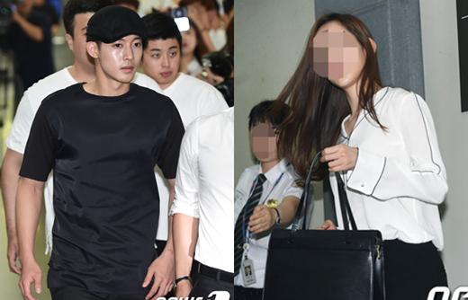 Đây là bức ảnh về lần đối đầu trực diện giữa nam nghệ sĩ Kim Hyun Joong và cô bạn gái với vụ kiện kéo dài suốt 2 năm của họ. Tính đến thời điểm hiện tại. cô Choi đã sinh hạ đứa con đầu lòng cho nam ca sĩ và chính Kim Hyun Joong cũng lên tiếng thừa nhận hành hung bạn gái vào tháng 8/2014.