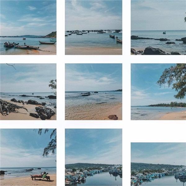 Bãi Ông Lang có rất nhiều tàu ghe neo đậu nên không thuận tiện để tắm biển, nhưng rất ổn nếu các bạn thích yên tĩnh.