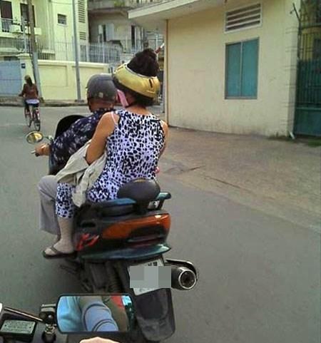 Phát minh mới: nón bảo hiểm dành riêng cho chị em búi tóc.