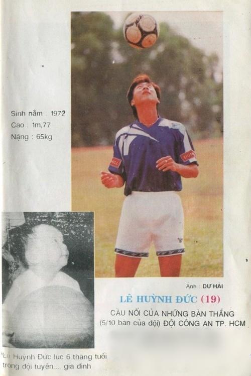 Tiền đạo Lê Huỳnh Đức - tay săn bàn xuất sắc nhất mọi thời đại của bóng đá Việt Nam.