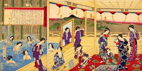 Sở thích tắm suối của của người dân nơi đây bắt nguồn từ khi Nhật Bản còn là một nước nông nghiệp.