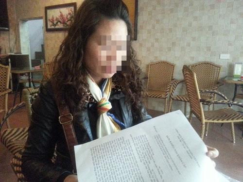 Chị L. đã trình đơn tố cáo lên chính quyền địa phương và mong được điều tra làm rõ vụ việc.