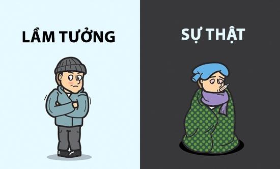 Trong khi nhiều người cho rằng bệnh cảm lạnh bởi trời lạnh gây ra thì sự thật nó là do virus chứ không hề liên quan đến nhiệt độ.