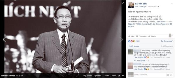 """Trang cá nhân """"ngàn like"""" giả mạo của nhà báo Lại Văn Sâm đã tạm khoá"""