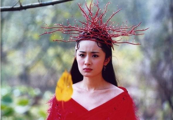 Trong Liêu Trai Chí Dị, Dương Mịch bị nhầm tưởng là ma cây khi độinguyên bộ rễlên đầu.