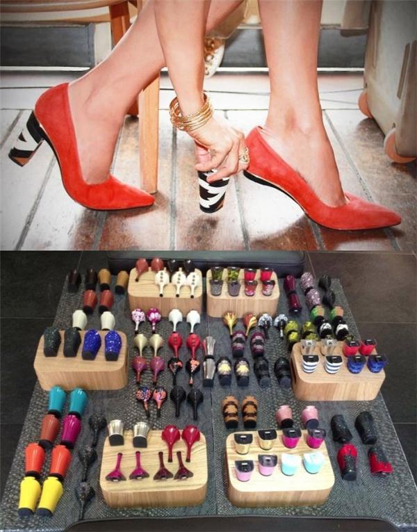Giày cao gót có thể tháo rời gót: Với thiết kế này, thứ bạn cần sắm vào mỗi cuối tháng (hay cuối tuần) chỉ là những cặp gót giày sành điệu. Hơn nữa, nó còn rất tiện ích cho những ai vừa phải mang guốc vừa phải lái xe.