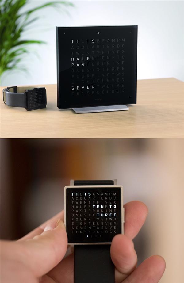 Đồng hồ chữ: Thay vì mặt kim đồng hồ và những con số, chiếc đồng hồ này sẽ hiển thị chính xác thời gian hiện tại bằng chữ, bạn sẽ không thể nào nhìn nhầm được.